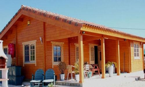 Casas de madera de 79 m2. + 22 m2 porche