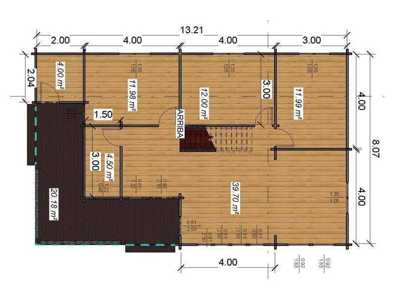 Casas De Madera Londres De 133m2 20 M2 Terraza