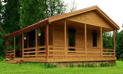 casas de madera de 72 m2 + 40 m2 de terraza