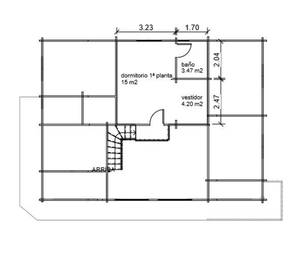 casas de madera de 117 m2 + 31 m2 de terraza