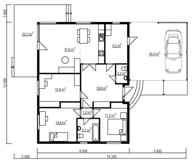 Casas de madera zaragoza de 106 m2 60 m2 terraza - Casas prefabricadas en zaragoza ...